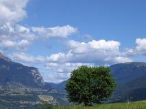 Облака в голубом небе Стоковое Изображение