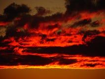 Облака в заходе солнца Стоковое фото RF