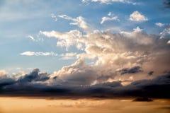 Облака в multicolor небе Стоковые Фото
