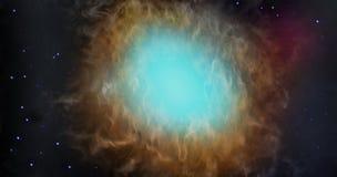 Облака газа, туман звезды космоса Стоковое Изображение