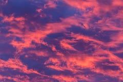 Облака горячего пинка Стоковые Фотографии RF