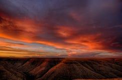 Облака захода солнца Айдахо над каньоном стоковое фото rf