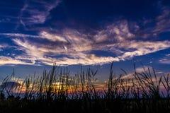 Облака захода солнца Стоковое Изображение RF