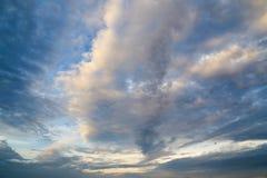 Облака захода солнца Стоковое фото RF