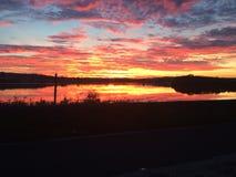 Облака захода солнца Стоковая Фотография RF