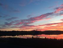 Облака захода солнца Стоковые Фотографии RF
