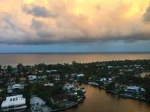 Облака захода солнца Стоковая Фотография