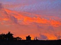 Облака захода солнца Стоковое Фото