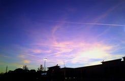Облака 2 захода солнца Стоковые Фото