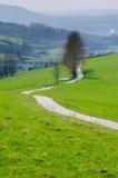 облака длиной много дорога сельская Стоковое Изображение RF