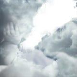 Облака и ангелы Стоковая Фотография