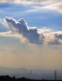 Облака и ландшафт фабрики Стоковые Изображения