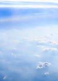 Облака и вертикаль дыма Стоковое Фото