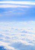 Облака и вертикаль дыма Стоковое Изображение
