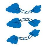 Облака и лестницы Стоковое Фото