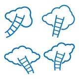 Облака и лестницы Стоковые Фотографии RF