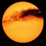 Облака красного цвета Солнця Стоковое Изображение RF