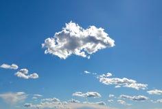 Облака кумулюса, порт Grimaud, Франция Стоковые Изображения