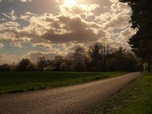 облака к путю Стоковые Фотографии RF