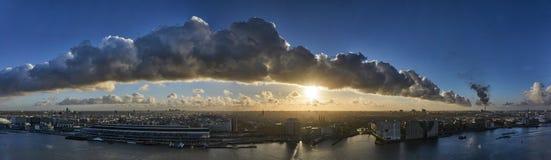 Облака над Амстердамом Стоковые Фотографии RF