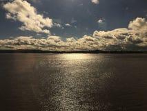 Облака над Бристолем Chanel Стоковая Фотография