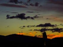 Облака над городом Стоковые Изображения