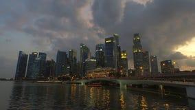 Облака над заливом Марины, Сингапуром Стоковое Изображение RF