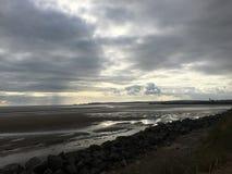 Облака над заливом Суонси Стоковое Изображение