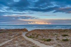 Облака над звуком Стоковая Фотография RF