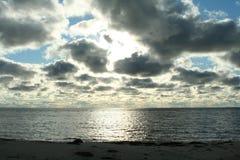 облака над морем, живая природа севера Стоковое Изображение