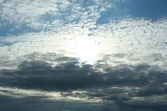 облака над морем, живая природа севера Стоковые Фотографии RF