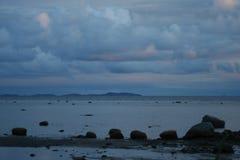облака над морем, живая природа севера Стоковые Изображения