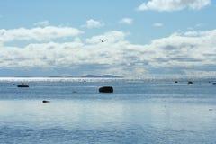 Облака над морем, живая природа северная Стоковое фото RF