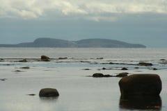 Облака над морем, живая природа северная Стоковая Фотография RF