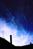 Облака на небе звезды предпосылки Стоковые Фото