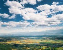 Облака над долиной Thessaly стоковая фотография