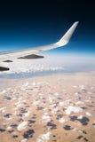 Облака над пустыней Африки Стоковое Изображение