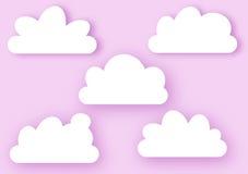 Облака на розовой поздравительной открытке неба Стоковое фото RF