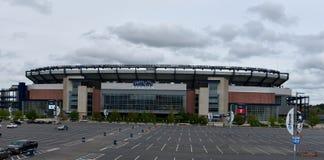 Облака над стадионом Gillette стоковое изображение