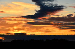 Облака на сумраке Стоковое фото RF