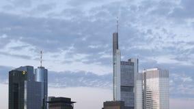 Облака над Франкфуртом сток-видео