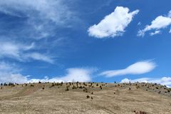 Облака над холмом Стоковые Фото