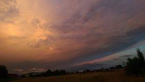 Облака над blackforest стоковое изображение