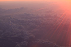 облака неба в восходе солнца стоковые изображения rf