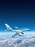 Облака неба перемещения самолета двигателя Стоковые Фото