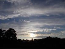 Облака небес захода солнца Стоковое Изображение RF