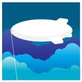 Облака небо полетов воздушного шара красочные, прохладный ветерок Стоковые Изображения