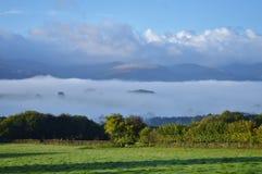 Облака долины Usk Стоковая Фотография RF