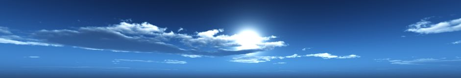 Облака панорамы неба панорамы Стоковые Изображения RF