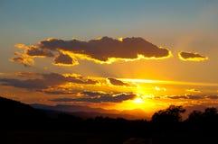 Облака поднимают страну Стоковое Изображение